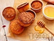 Лесни и вкусни бананови къпкейкове с мед